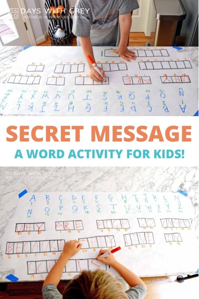 Kindergarten word activity