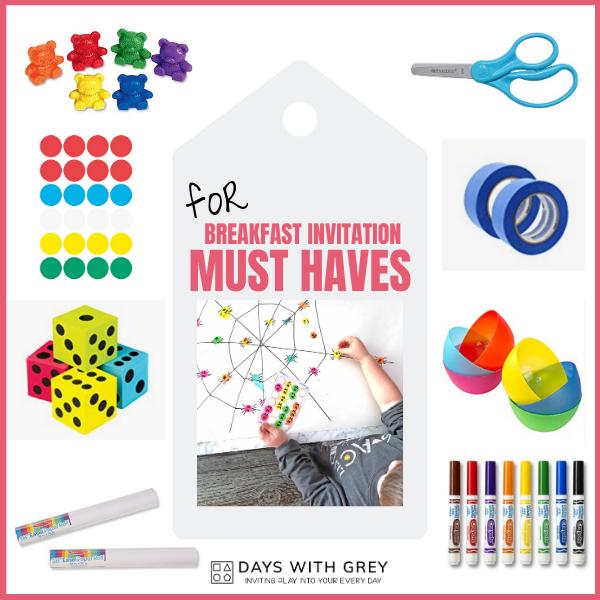 Simple supplies for preschool games