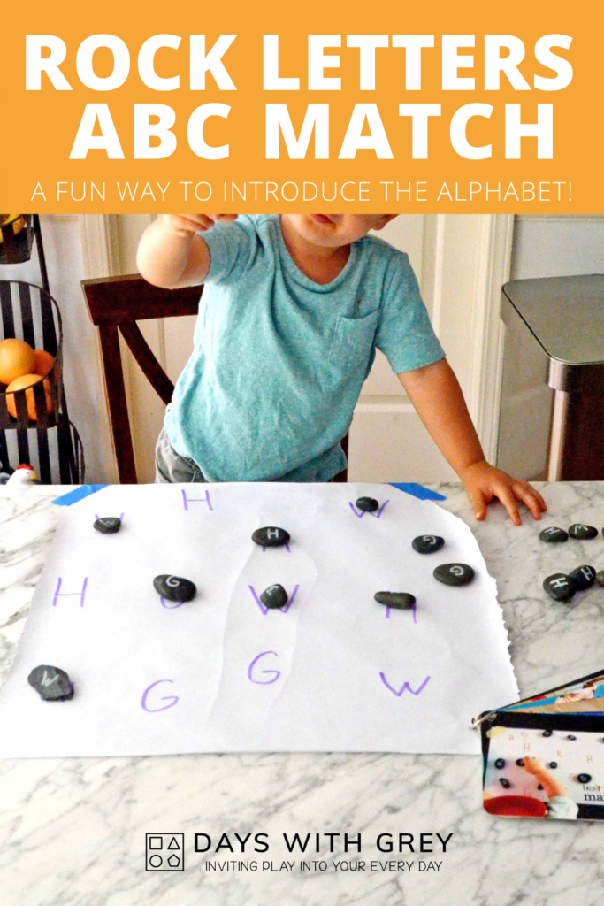 Rock Letters Alphabet Activity