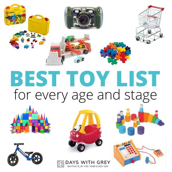 Playroom toy list