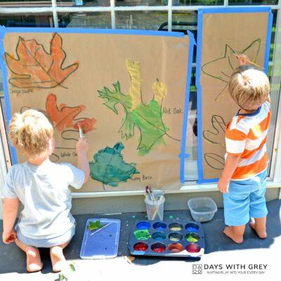 fall leaf paintings