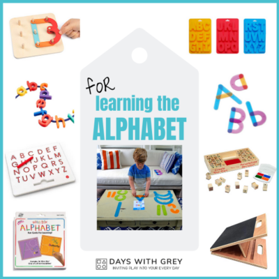 Toys to help learn the alphabet