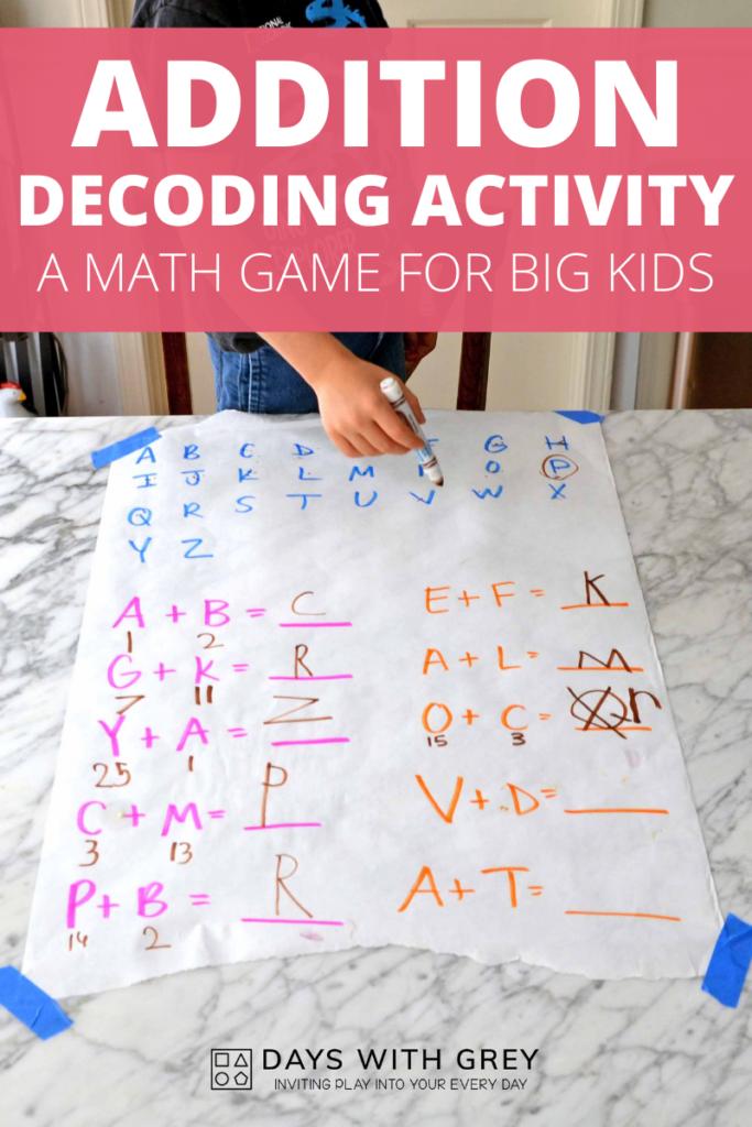 addition activity