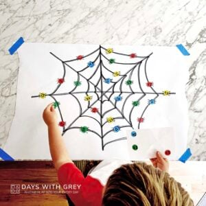 Spider Dots – The Best Preschool Halloween Activity
