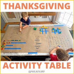 Thanksgiving Kid's Activity Table