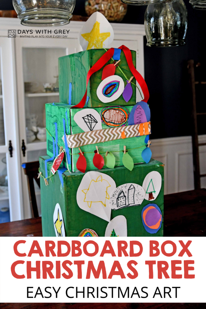 Easy Christmas art activity for kids