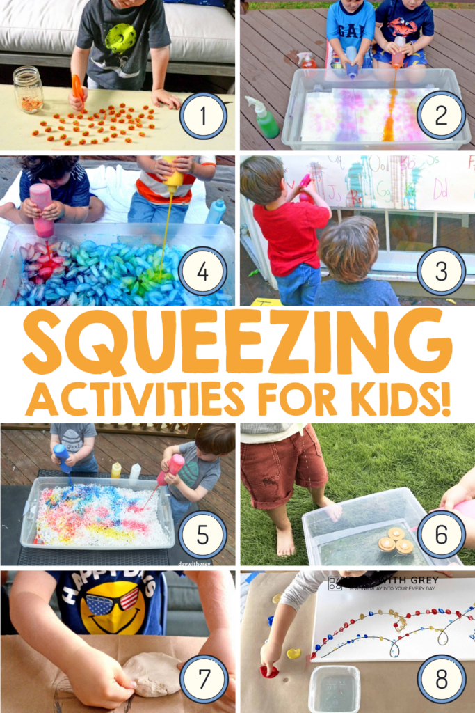 Fine motor activities for squeezing