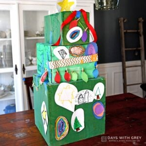 Cardboard Box Christmas Tree