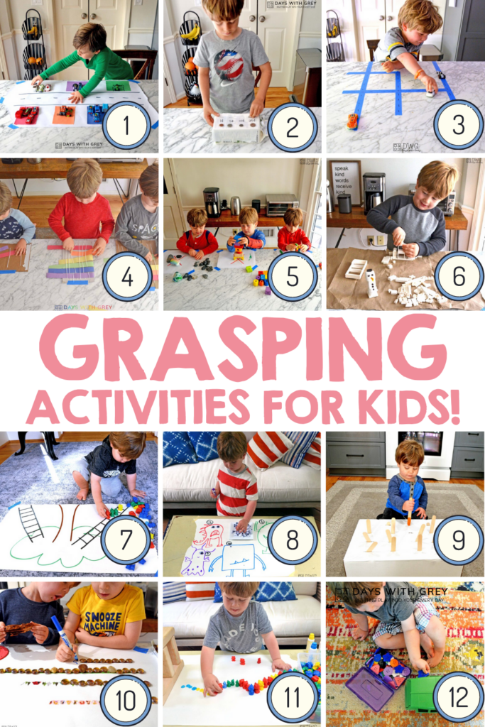 Grasping activities for fine motor