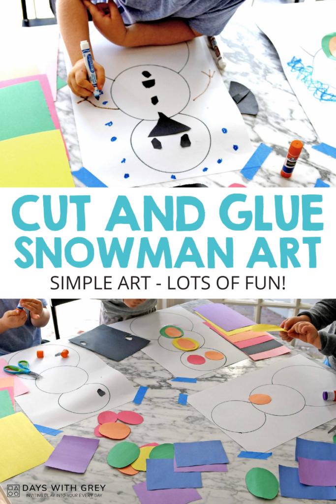 Simple snowman art activity