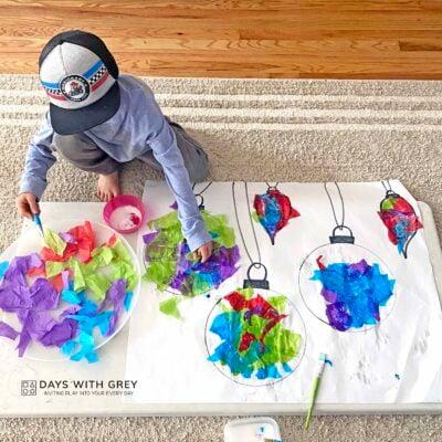 tissue paper art activity
