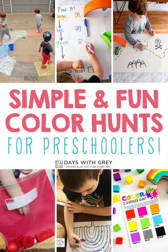 Toddler and preschooler color hunts