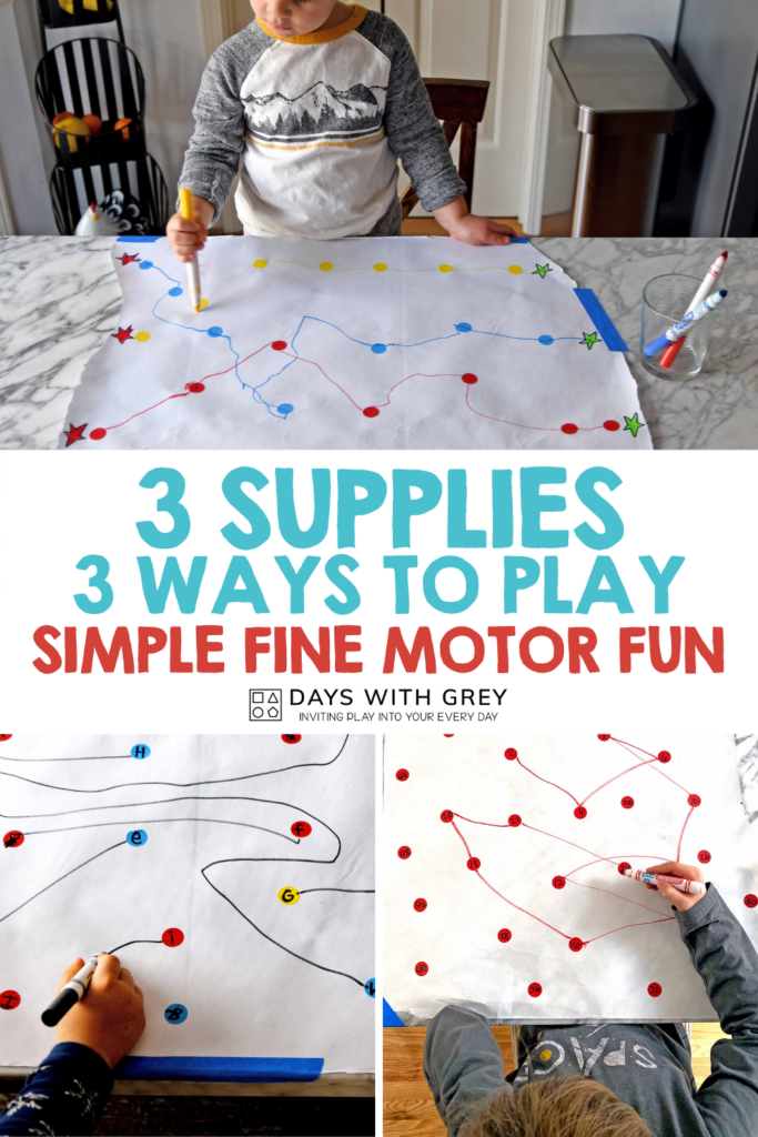 Pencil grip and fine motor skills easy activity