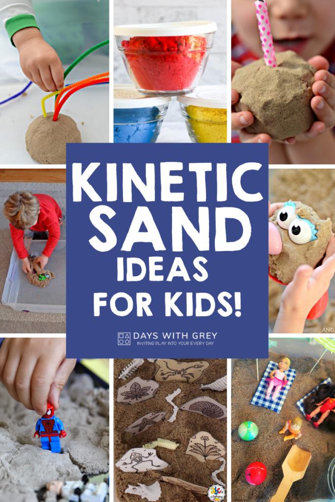 20+ kinetic sand ideas for kids