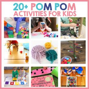 20+ Pom Pom Crafts and Activities