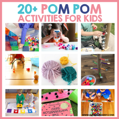 Kids pom pom craft and activity ideas