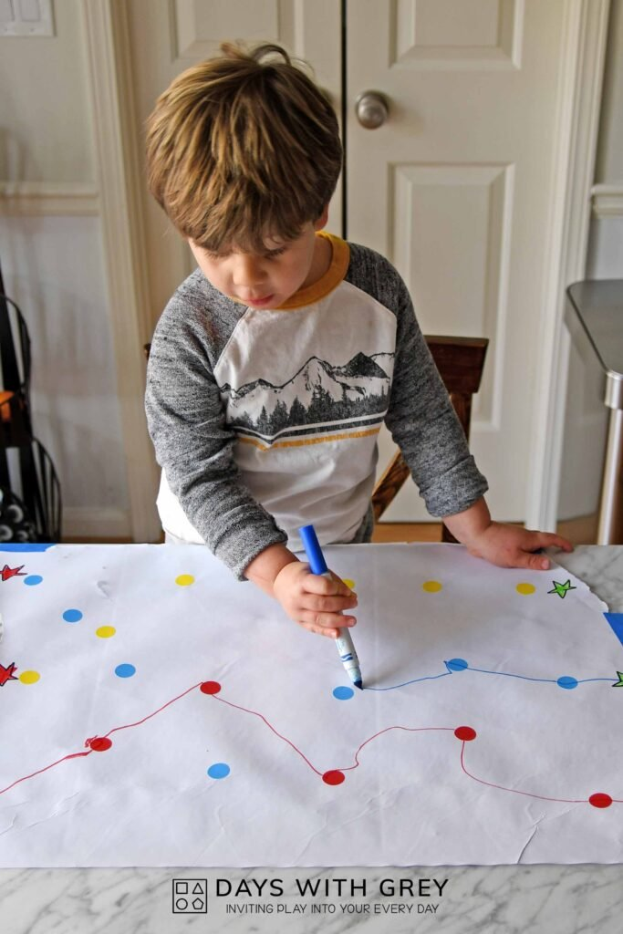 Connecting dots for fine motor skills