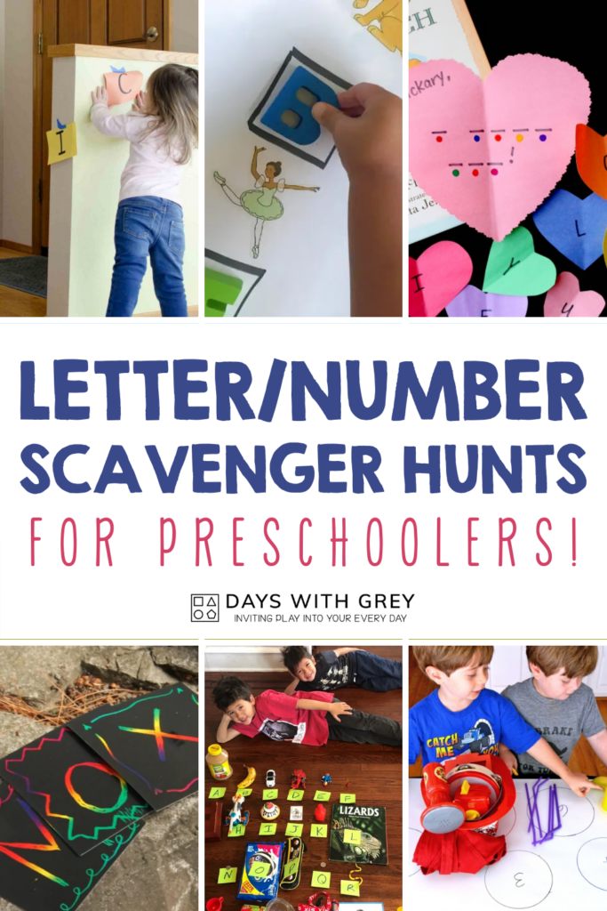scavenger hunt for letters and numbers