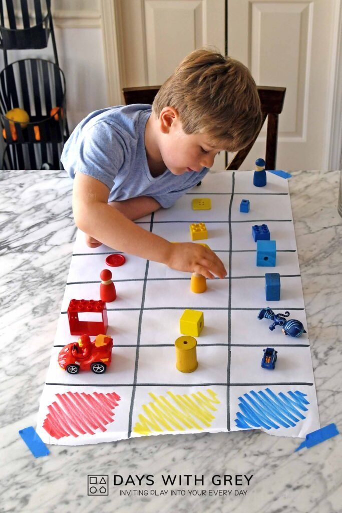 preschool color graph
