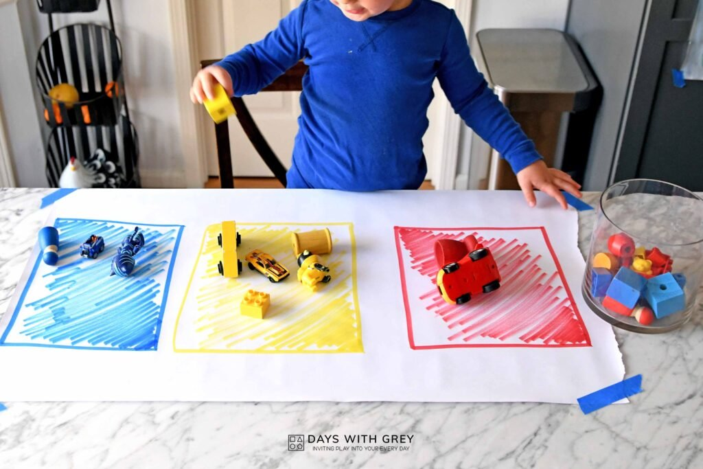 easy toddler sorting activity