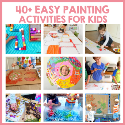 kid painting activities