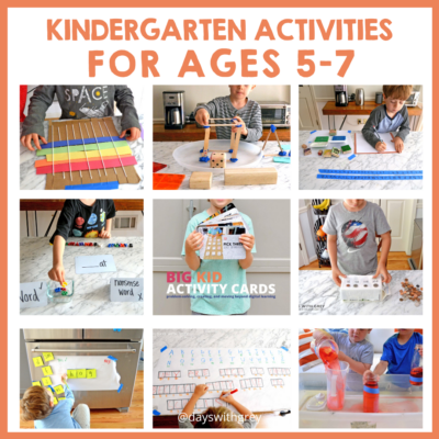 hands-on kindergarten activities