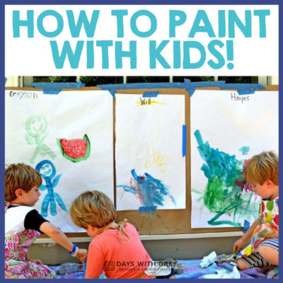 Everything to paint with kids