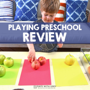 Review and Peek Inside Playing Preschool Curriculum