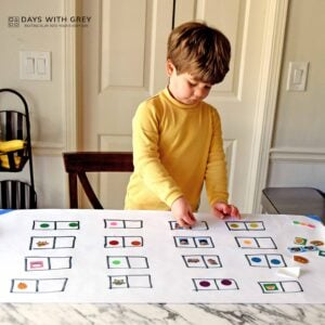 Sticker Pairs; a Matching Game for Toddlers