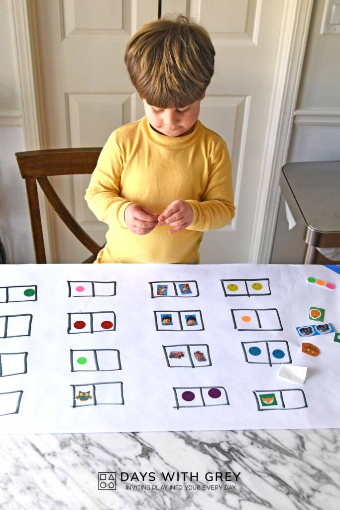 toddler matching activity