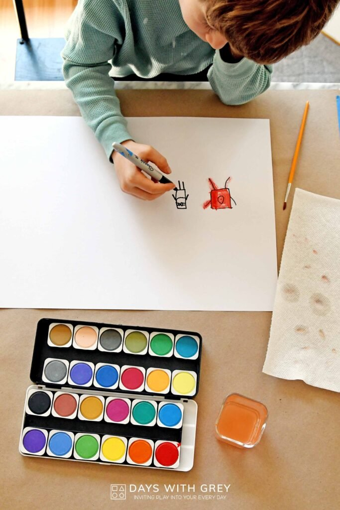 easy watercolor painting idea