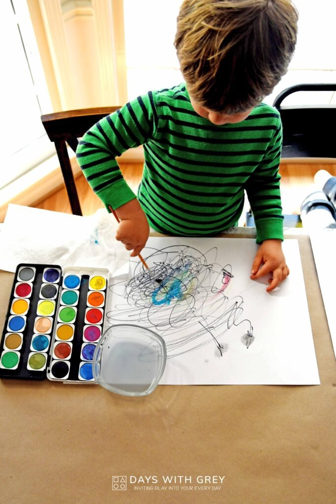 toddler painting idea