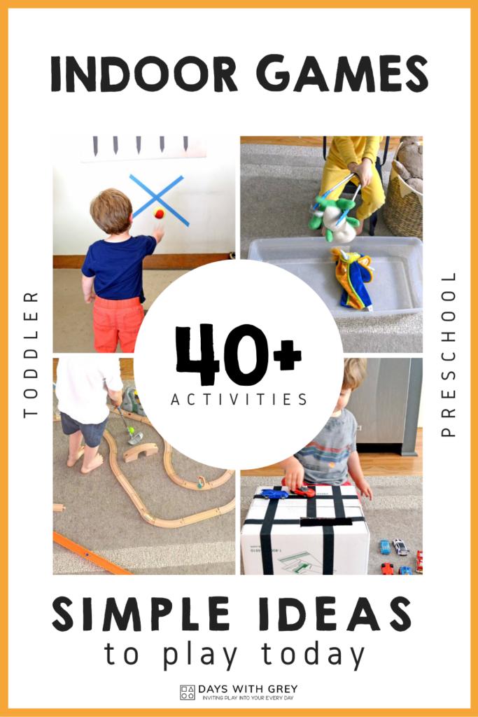 40+ Indoor Games for Kids