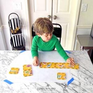 Magnetic Tile Sticker Puzzle