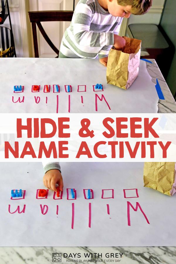 name activity for preschool