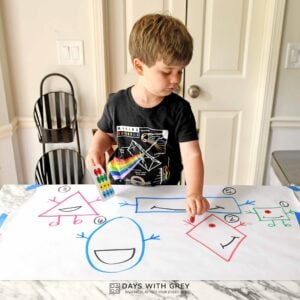 Shape People; Toddler Counting Activity