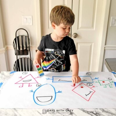 toddler shape and counting activity
