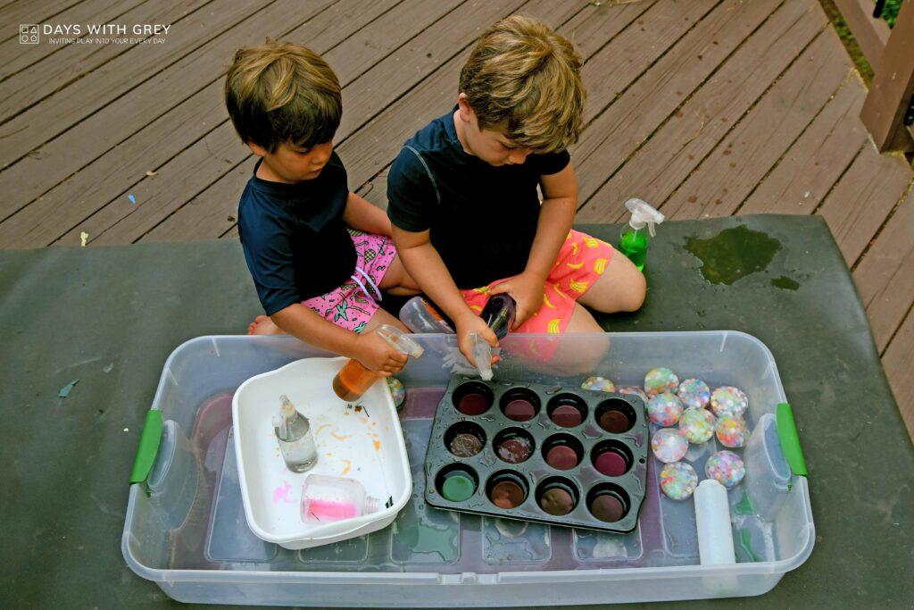 ice sensory play for kids