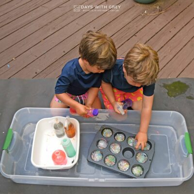 water bead sensory play