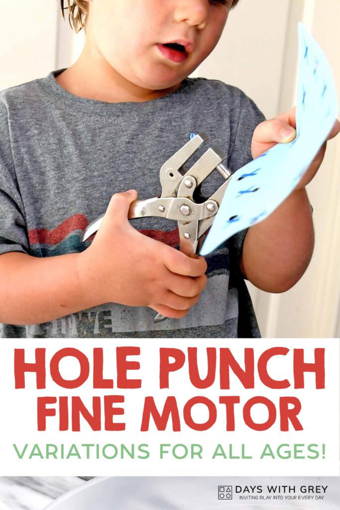 preschool fine motor activity