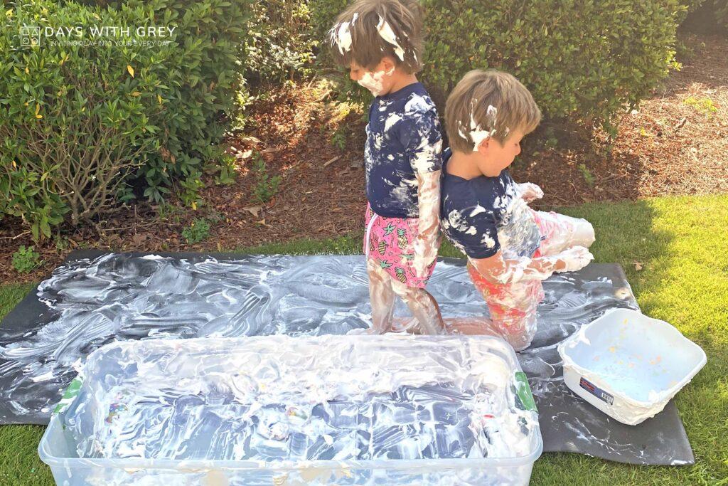 shaving cream messy play