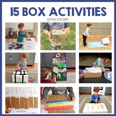 cardboard box activities for kids