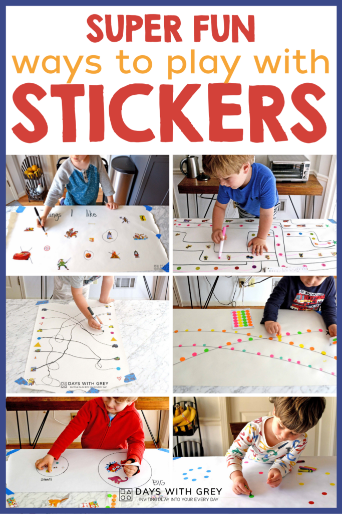 ways to play with stickers