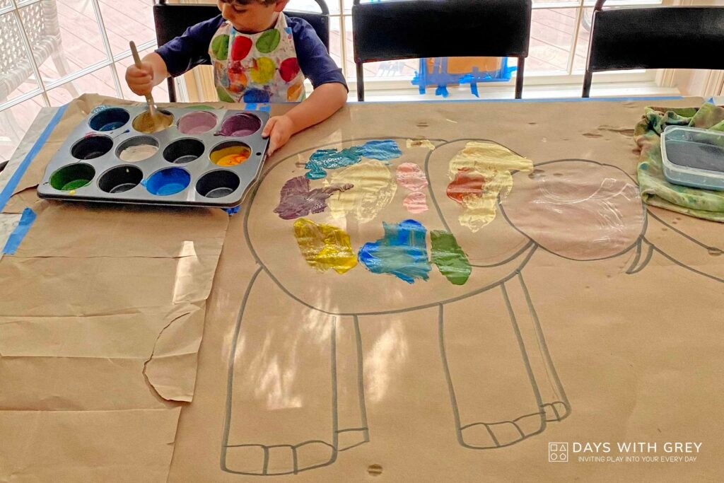 simple painting for kids