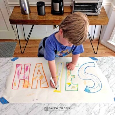 letter recognition with names