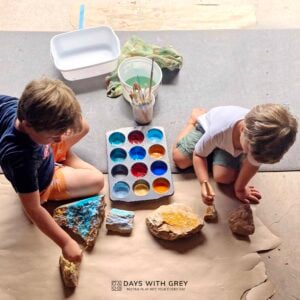 Painting Rocks: an Easy Art Activity for Kids