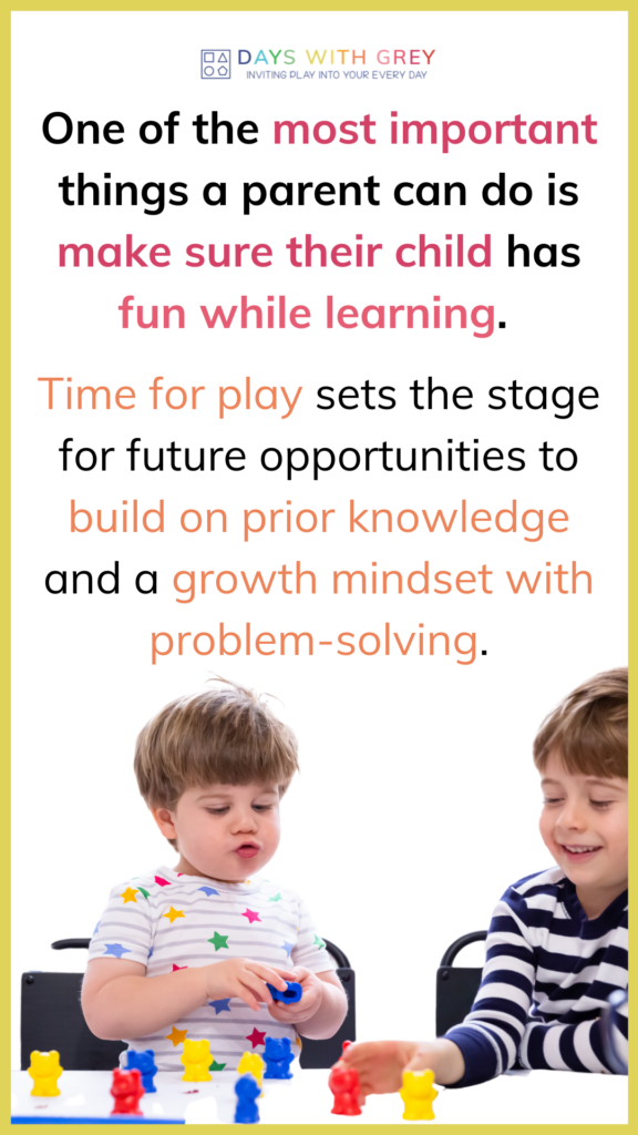 online course for parents of toddlers and preschoolers to help children learn through play
