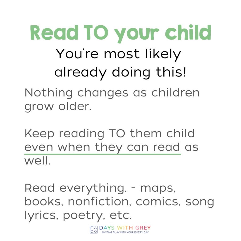 benefits of reading to, with, and by children