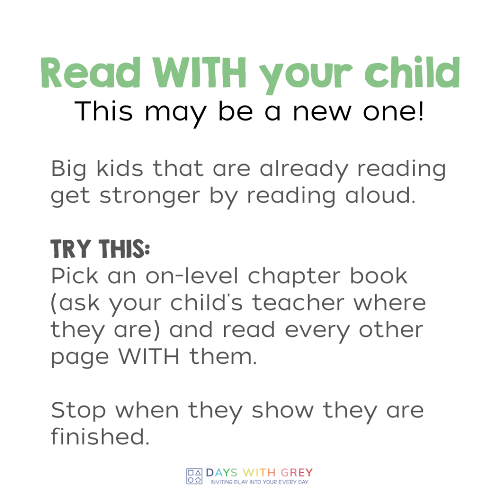 reading with children to help improve reading