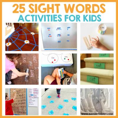 kindergarten sight word ideas